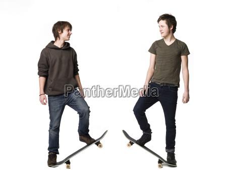 boys with skateboards