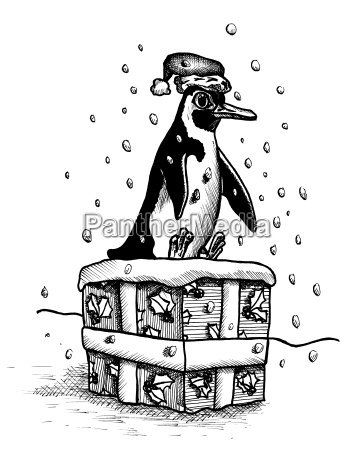 penguins christmas present