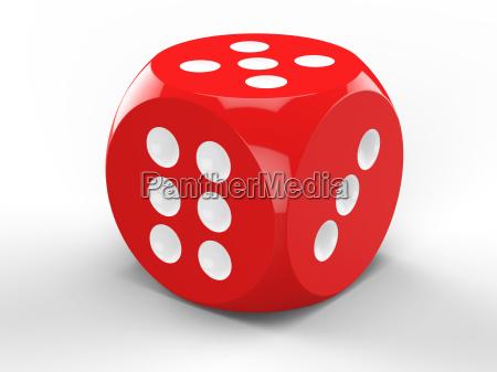 3d rendering of red dice