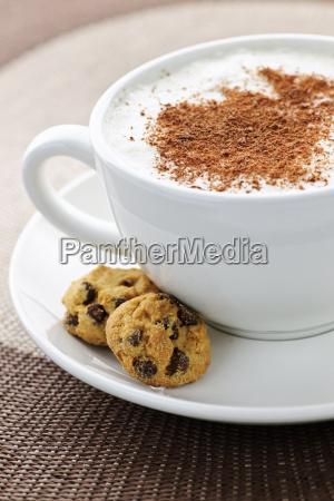 cappuccino or latte coffee