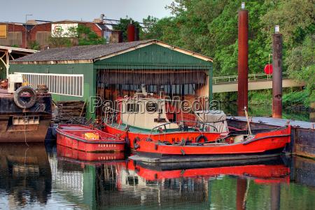 hamburg boathouse in the travehafen