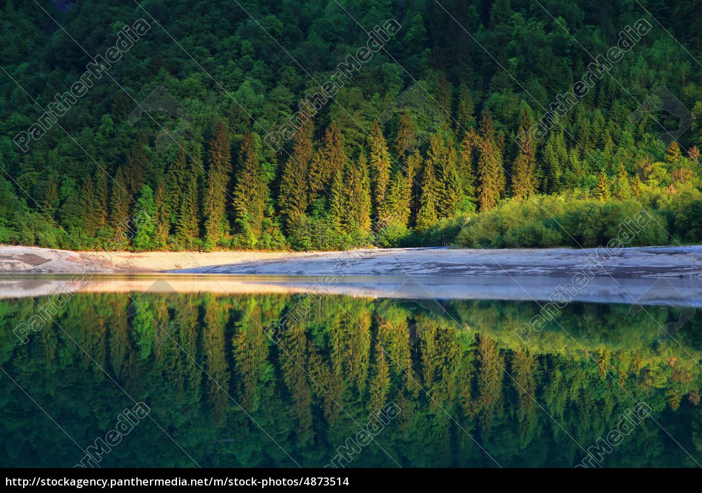 mountain, lake, in, switzerland, klöntalersee - 4873514