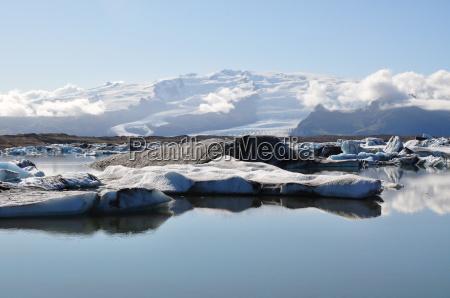 iceland glacier near skaftafell