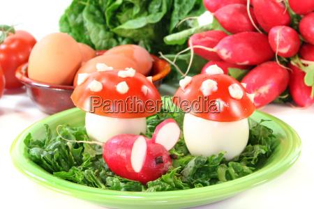 fly agaric tomatoes tomatos mushroom fungus