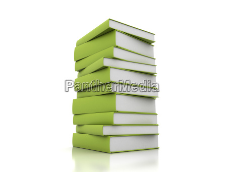 books green on white background