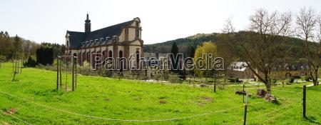 abbey himmerod in the eifel panorama