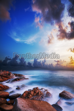 morning seascape long exposure shot