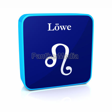 zodiac symbol lion blue white