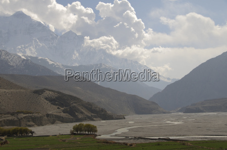 view of the annapurna massif of