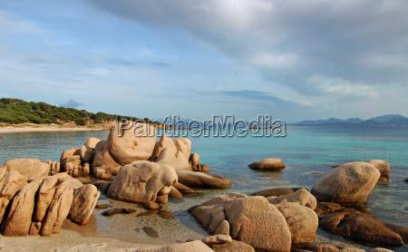 rocks at the sardinian coast at