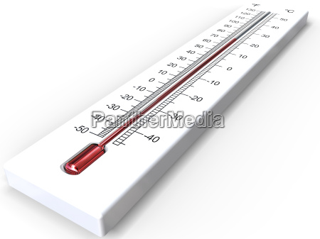 white 3d thermometer