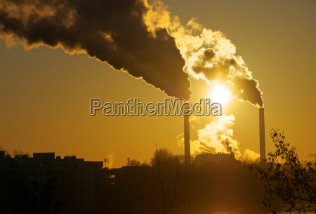 sunrise with pollution