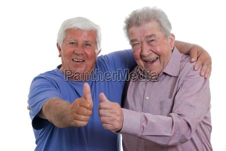 seniors lift the thumb
