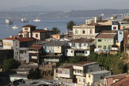 aerial view on valparaiso chile
