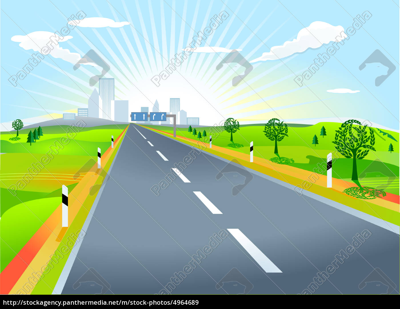 landscape, with, road - 4964689