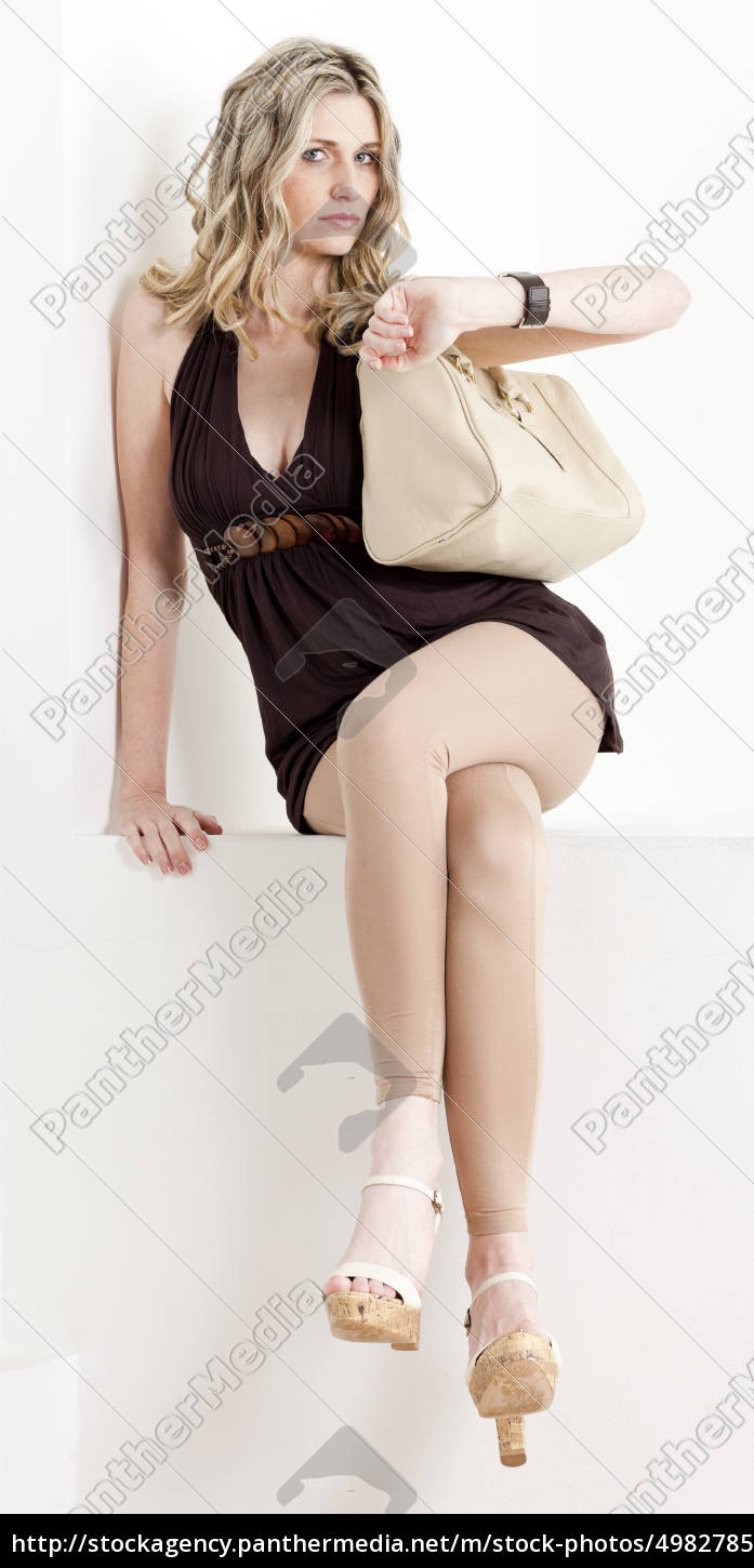 sitting, woman, wearing, summer, clothes, and - 4982785