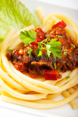 hungarian goulash with noodles