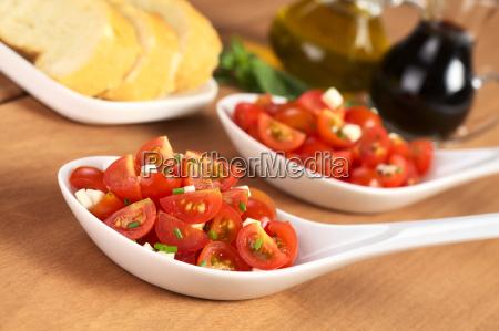 cherry tomato and cheese salad