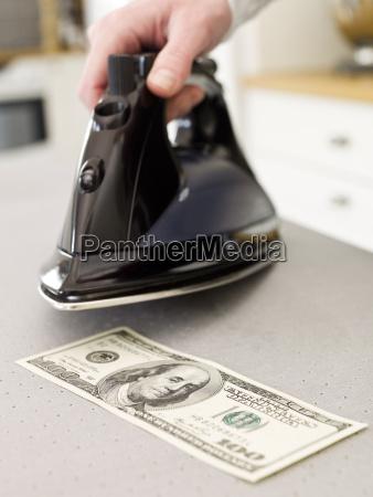 money ironing