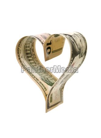 heartshaped money