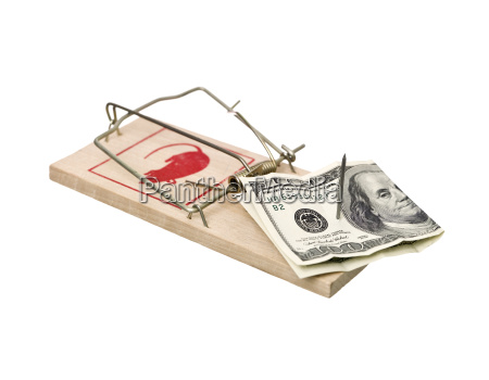 mousetrap with dollars