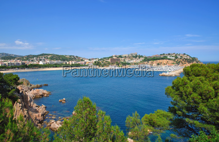bay and beach of san feliu