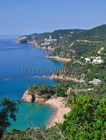 romantic coast of costa brava in