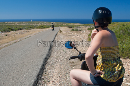 motorcyclist on formentera