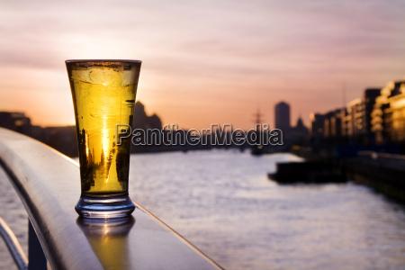 pint of beer over dublin