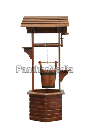 wood water well