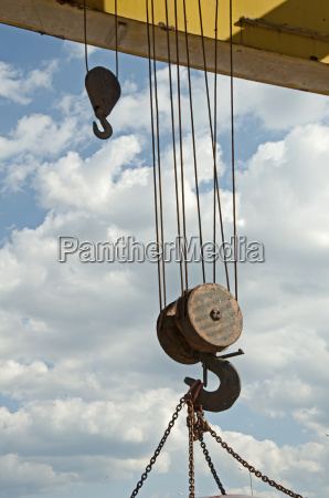 two lifting hooks