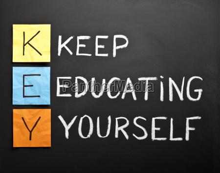 keep educating yourself acronym