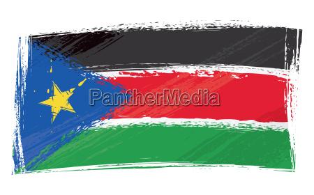 grunge south sudan flag