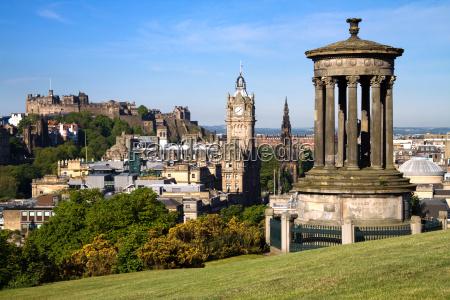 edimburgo ciudad y del castillo visto