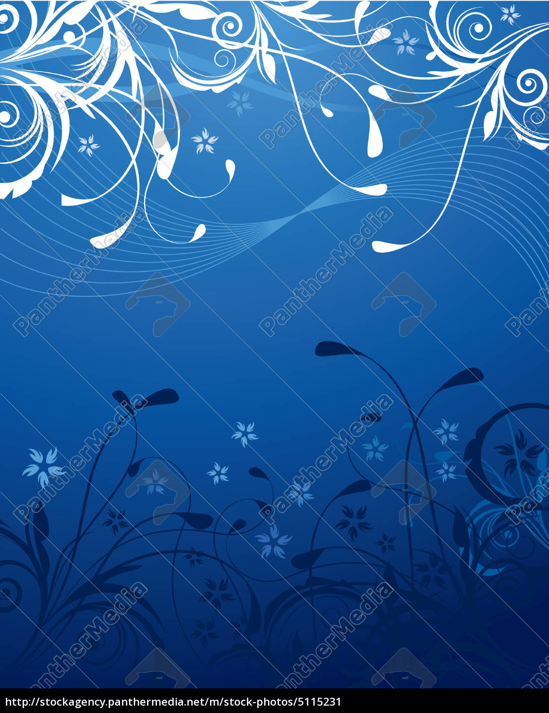 Blue Floral Background Royalty Free Image 5115231