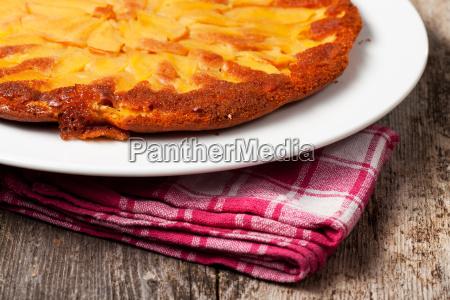 detail of a tarte tatin