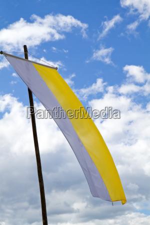 waving flag church