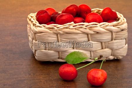 vitamins vitamines sweetly basket fruit cherries