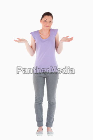 good looking woman posing while standing