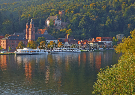 the morning miltenberg in lower franconia