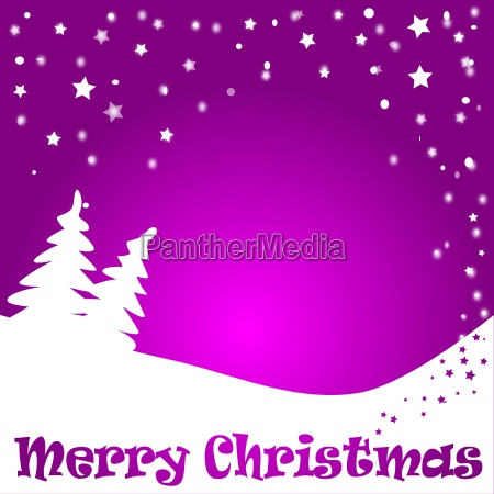 christmas background in purple with snowflakes