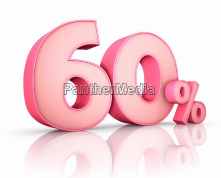 pink sixty percent
