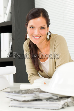 relax professional architect woman smiling