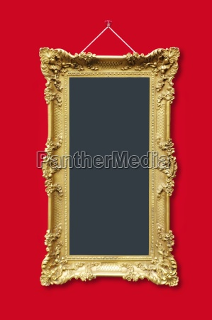 picture frames in gold with ornaments