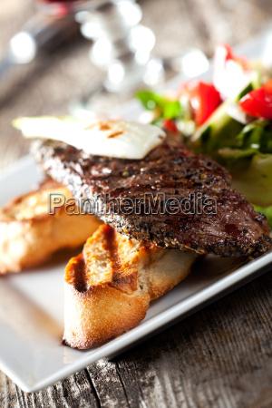 pan filete baguette filete de carne