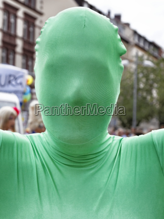 mask in green