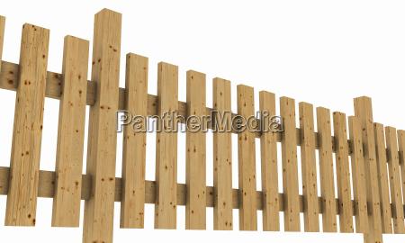 3d wooden fence light brown