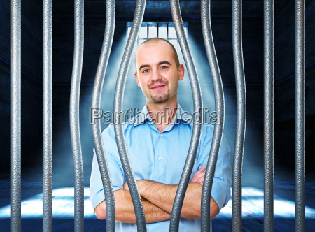 calm man in prison