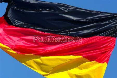 europe flag pennant germany flies a