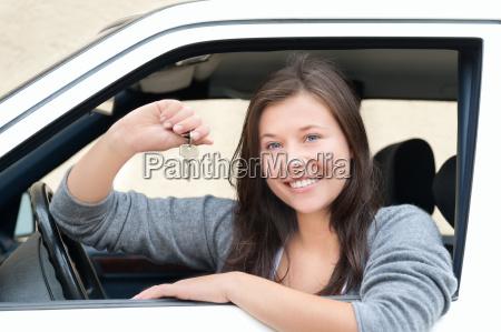 donna nuovo ritratto auto veicolo mezzo